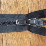 #10 ykk nylon zipper with double slide