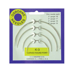 No. K-3 - Curved Round Point Needle Card