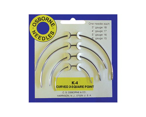 No. K-4 - Curved 3 Sq. Point Needle Card