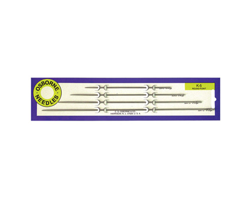 No. K-5 - Straight Rd. Point Needle Card