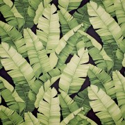Manele Black Green – Barkcloth