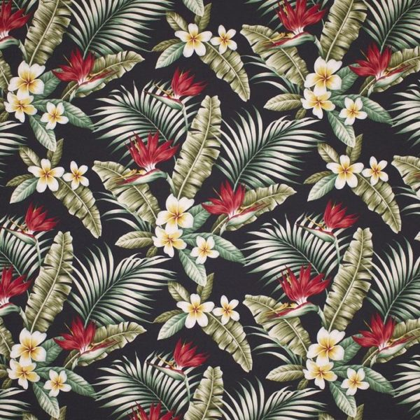 Maunawili Black – Barkcloth