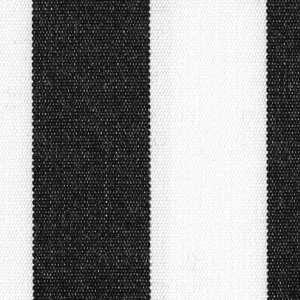Black 1 Inch Stripe - Sunfield 100% Solution Dyed Acrylic