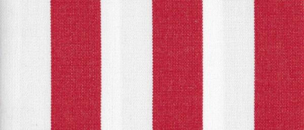 Crimson 1 Inch Stripe - Sunfield 100% Solution Dyed Acrylic