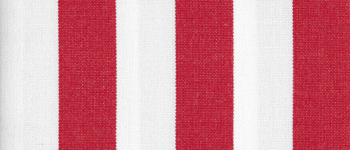 Crimson 1 Inch Stripe - Sunfield 100% Solution Dyed Acrylic
